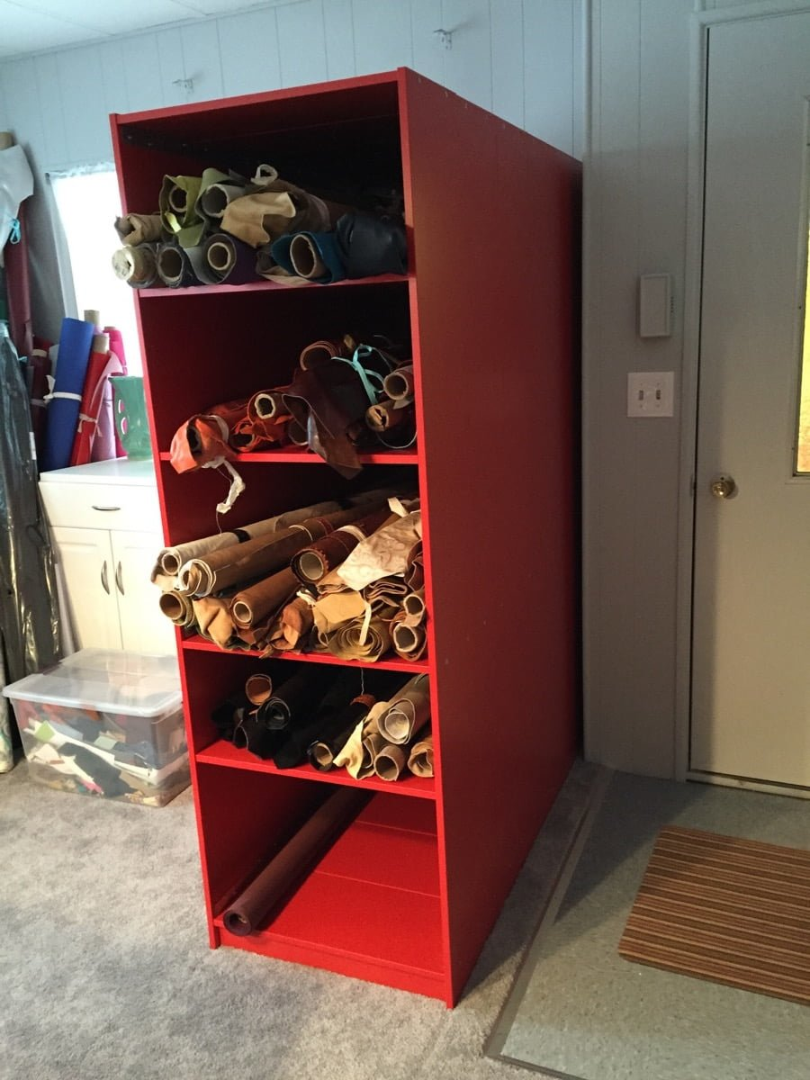 Finnby Bookcases Hacked As Rolled Textile Storage Ikea