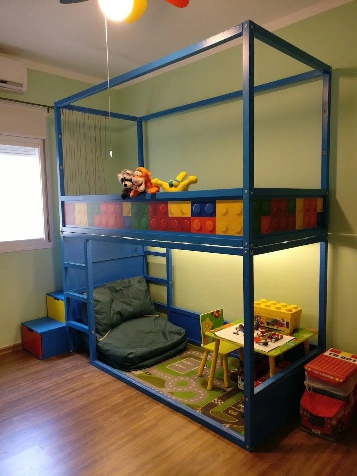 Kids Loft Kura Bed With Nordli Stairs Ikea Hackers
