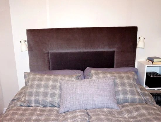 Billy bookcase into headboard