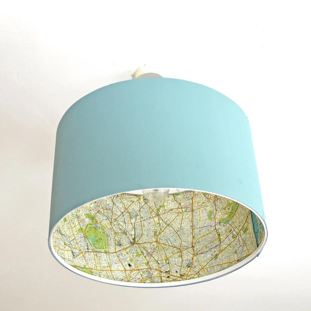 map lamp shade ikea hack