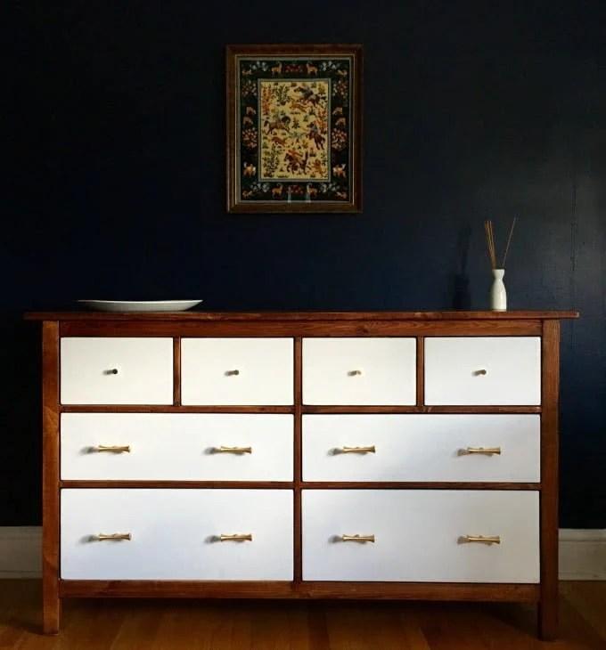 hemnes mid century styled cabinet
