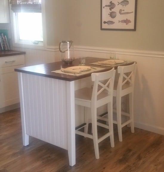 Coastal makeover for STENSTORP kitchen island-2