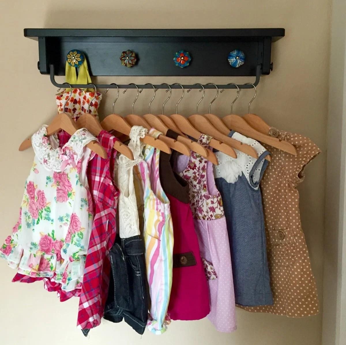 Playful Space Saving Baby Clothing Rack Wall Hung Ikea