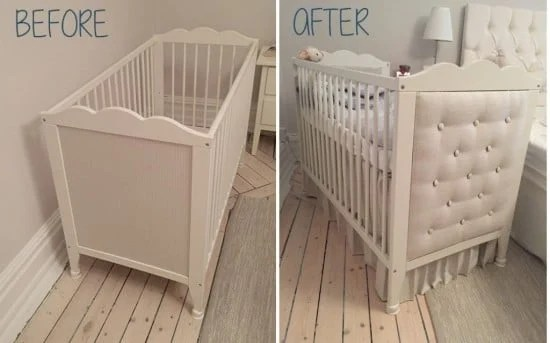DIY headboard for IKEA HENSVIK crib