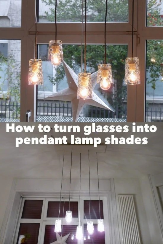 Turn FLIMRA glasses into pendant lamp shades