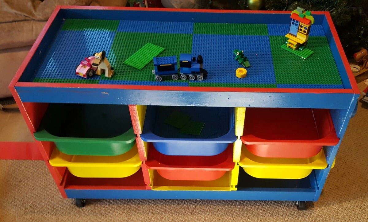 trofast to lego table in one weekend ikea hackers. Black Bedroom Furniture Sets. Home Design Ideas