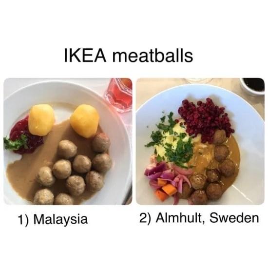 IKEA Swedish Meatballs Malaysia vs Sweden