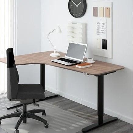 Bekant Corner Desk Left Sit Stand Gray Ikea Hackers