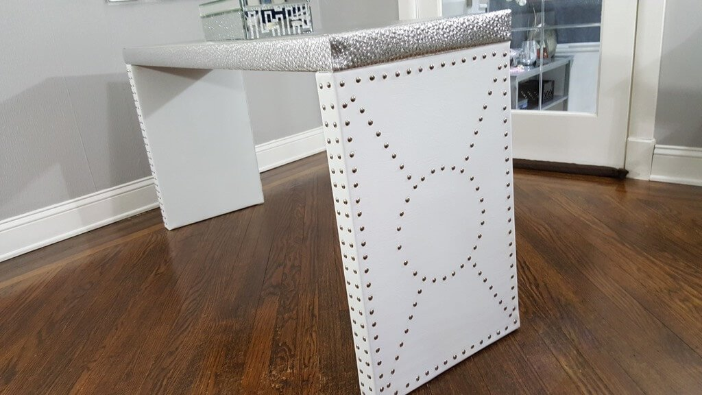 Nailhead Console Table - IKEA LACK Entryway Table Luxe Upgrade