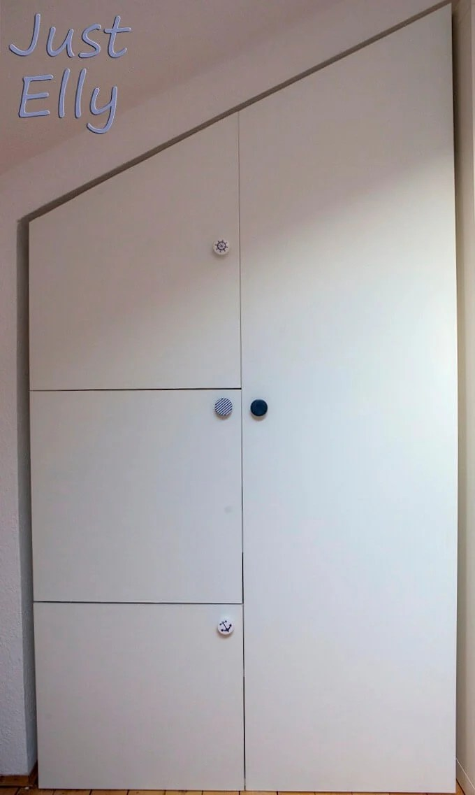 IKEA PAX as 4-door craft and sewing cabinet