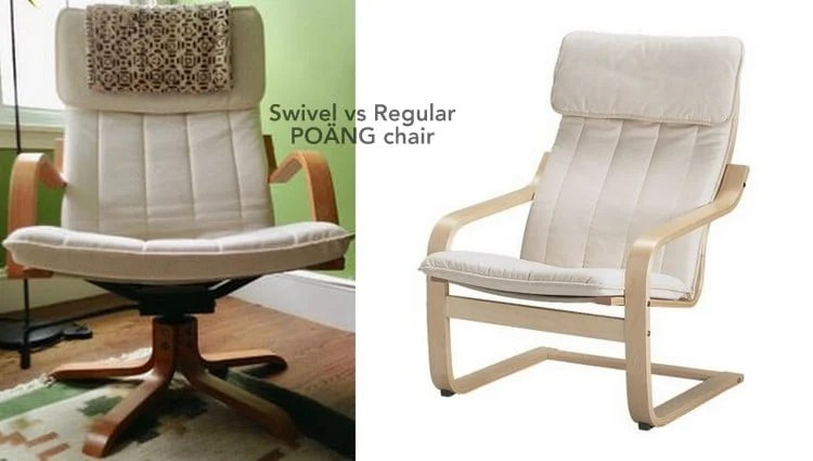 Swivel vs Regular POÄNG chair