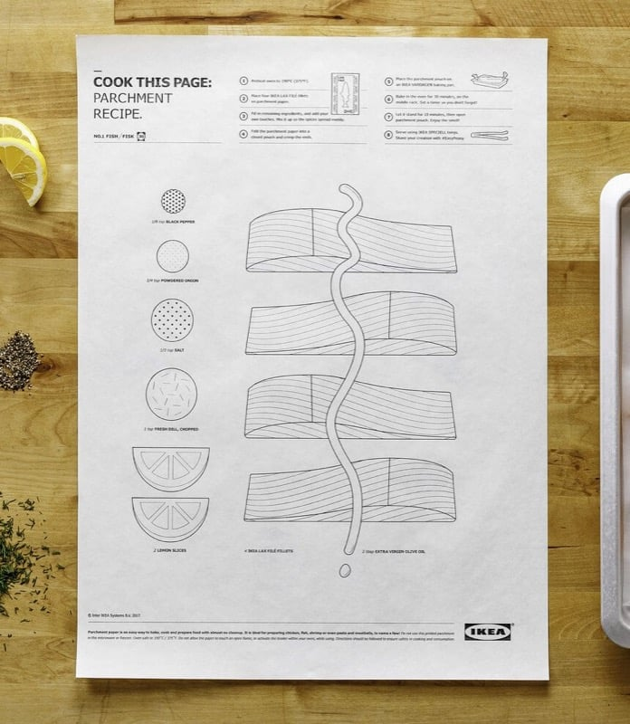 Cook this page IKEA parchment paper - blank