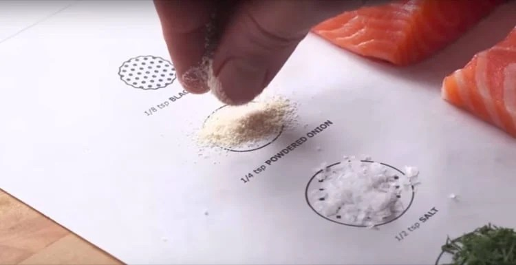 Cook this page IKEA parchment paper - ingredients close up