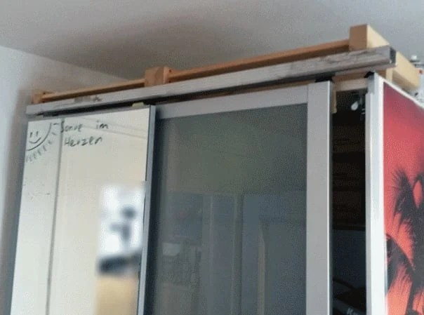Pax sliding door rails alternative