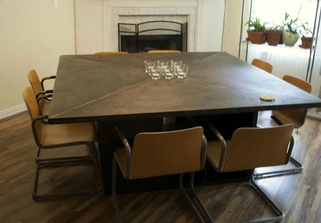 Massive Expedit Square Dining Table