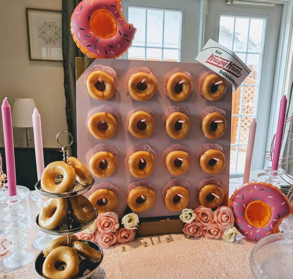Diy Donut Bar Stand From Ikea Lack Table Ikea Hackers