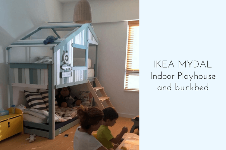 Make An Indoor Playhouse Bunk Bed Ikea Mydal Hack