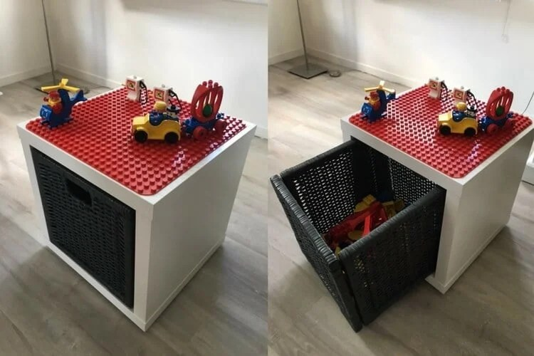 LEGO DUPLO storage play table