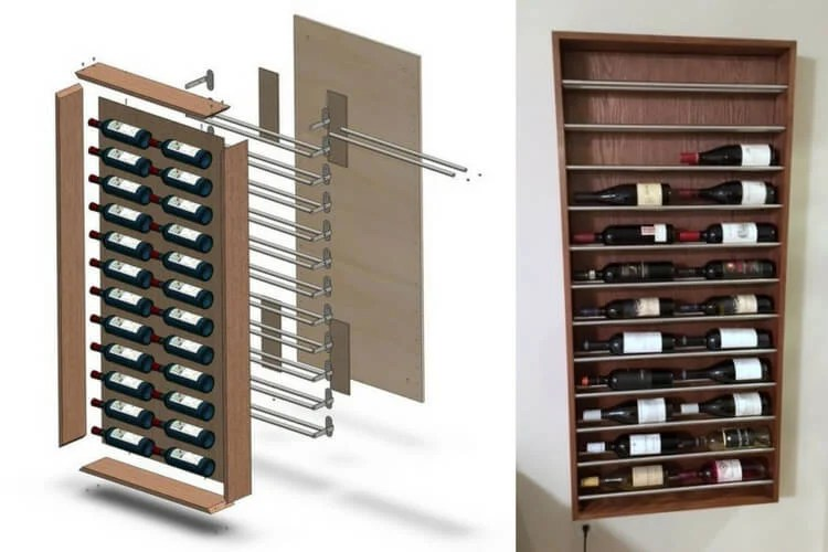 Wall Wine Rack A Brogrund Towel Rail Hack Ikea Hackers