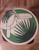 IKEA Frosta wooden stool with tropical chic