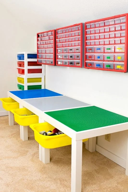 LEGO Play Table with Drawer Storage - IKEA Hackers