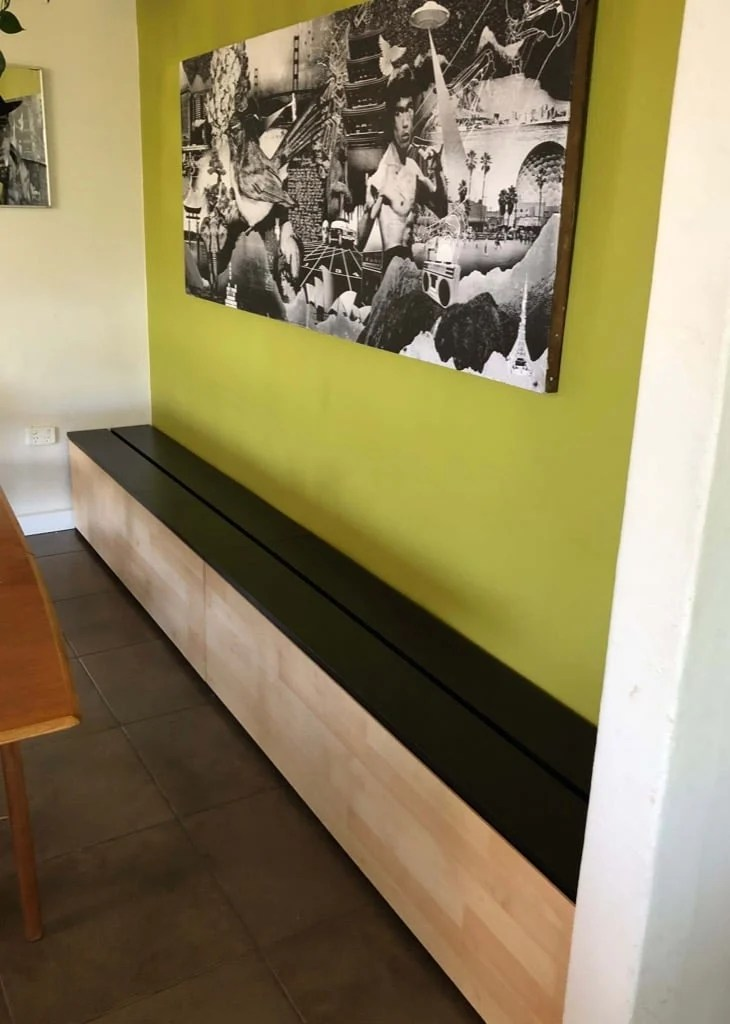 Dining Bench with Storage for $200