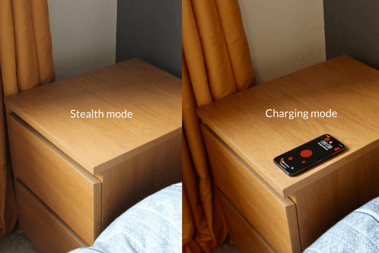 hidden wireless phone charger