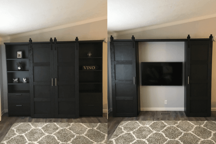 barn doors for entertainment system