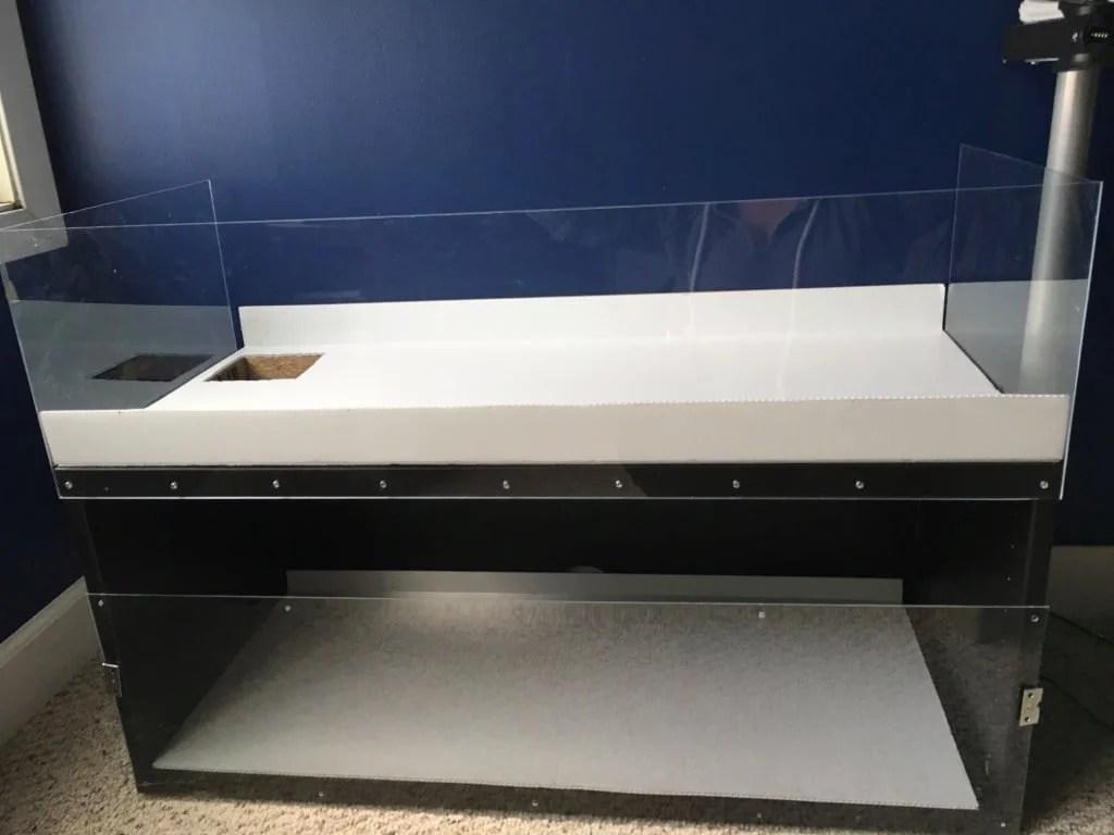 Double Decker Guinea Pig Enclosure from IKEA TV unit