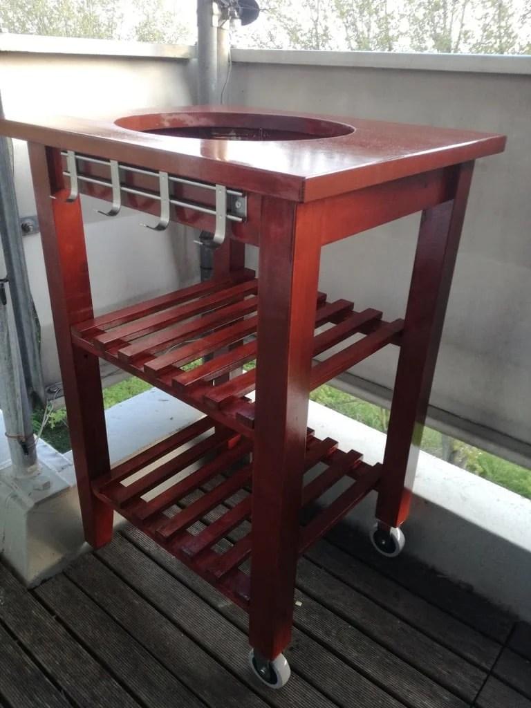 mini kamado BBQ grill table