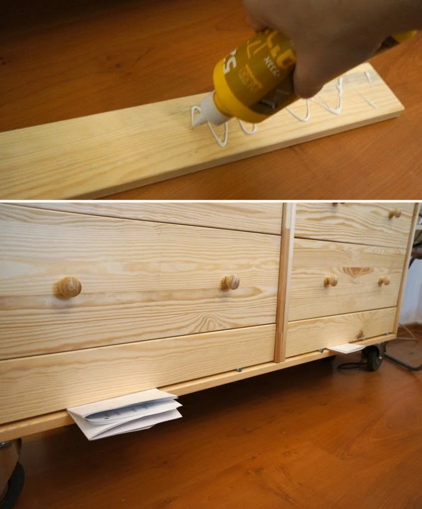 Chic bedroom storage from two $35 RAST dressers