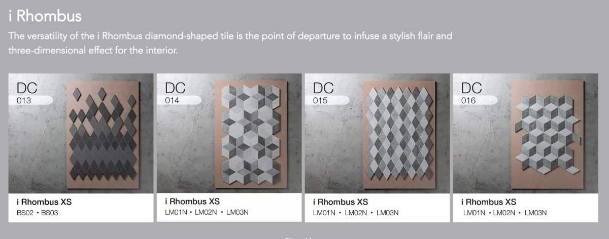 Rhombus tile design