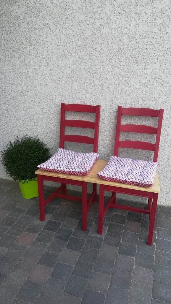 Dining chairs to a lovely outdoor bench