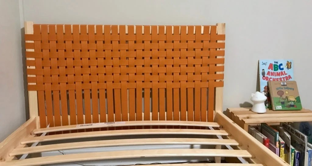 Upholster your headboard with woven canvas