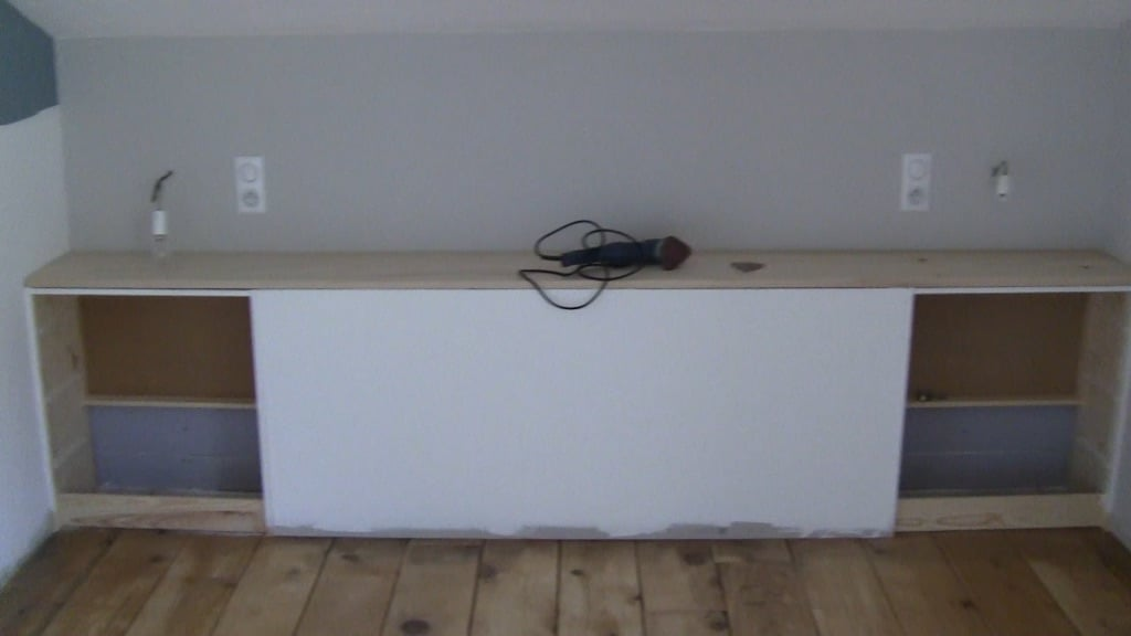 Stylish and affordable built-in headboard with IKEA RAST drawers
