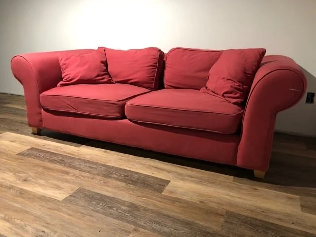 discontinued IKEA sofa