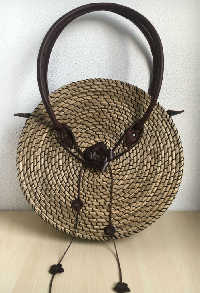 raffia bag from IKEA placemats