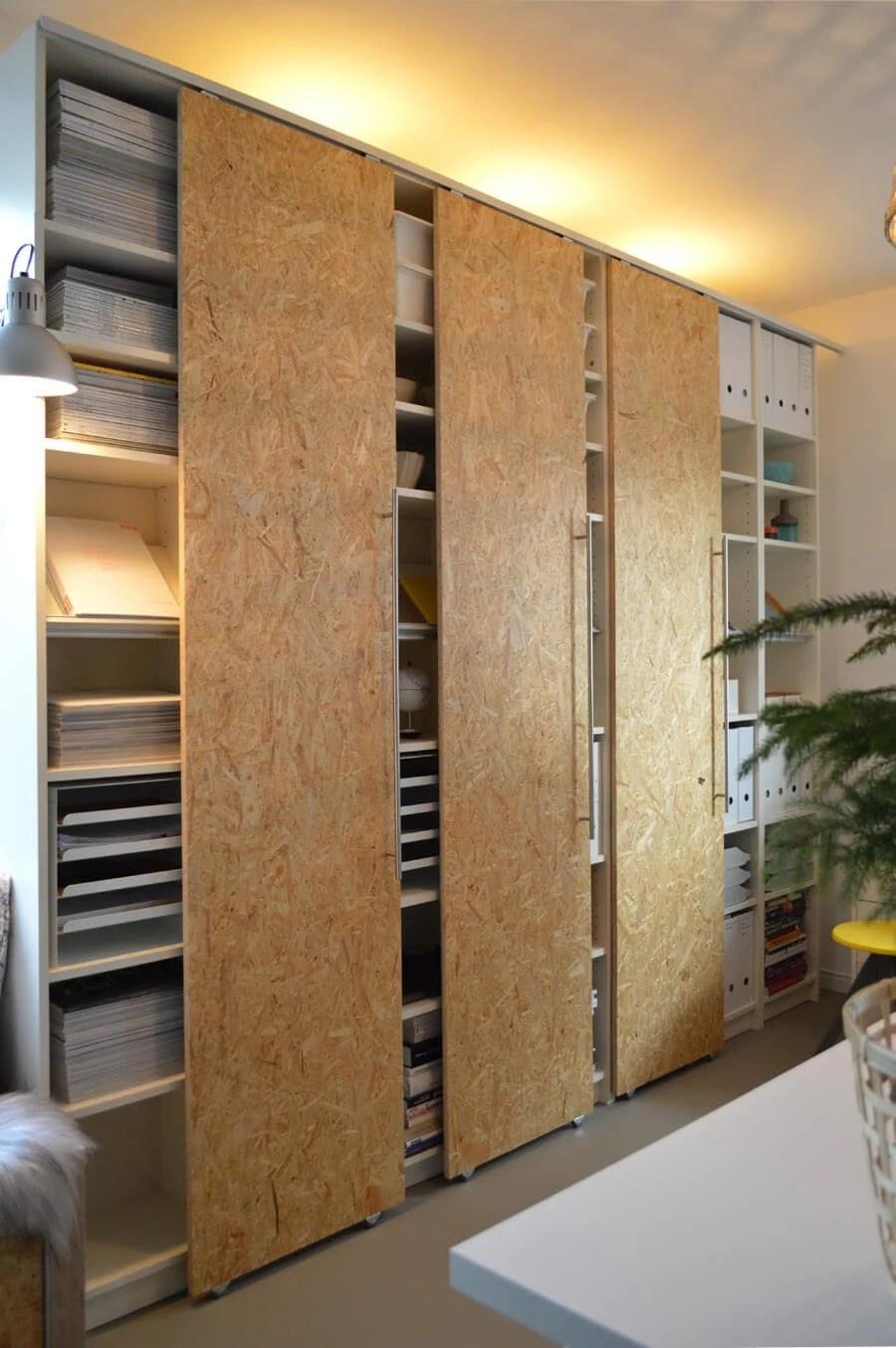 How to make sliding closet doors for PAX?