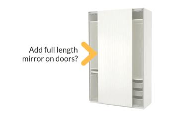 sliding mirror wardrobe doors