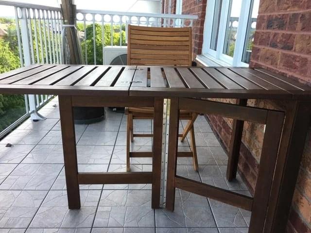 ÄPPLARÖ folding table hack