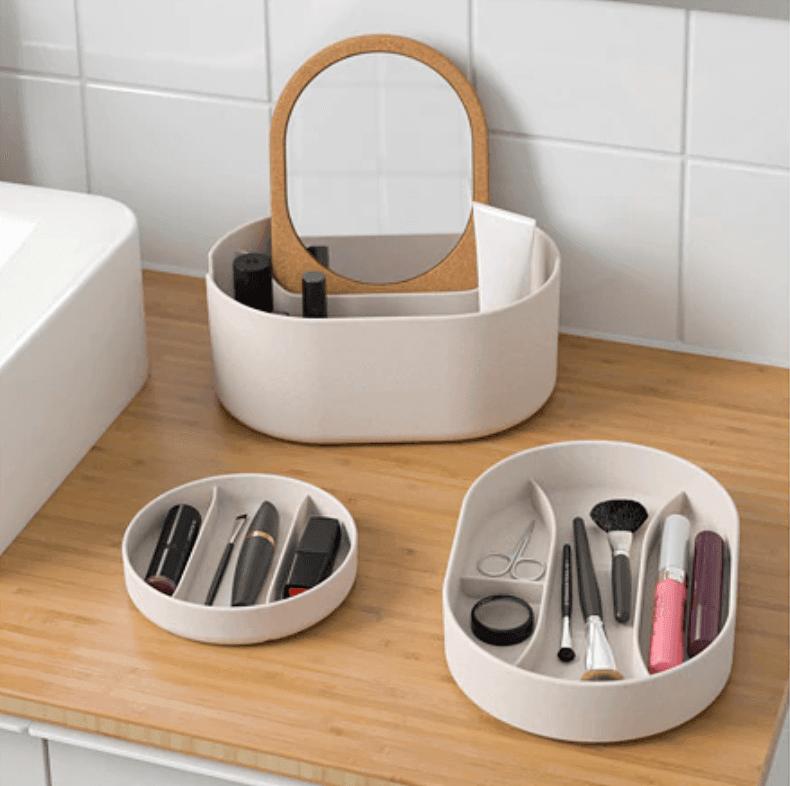 SAXBORGA storage box with mirrored lid