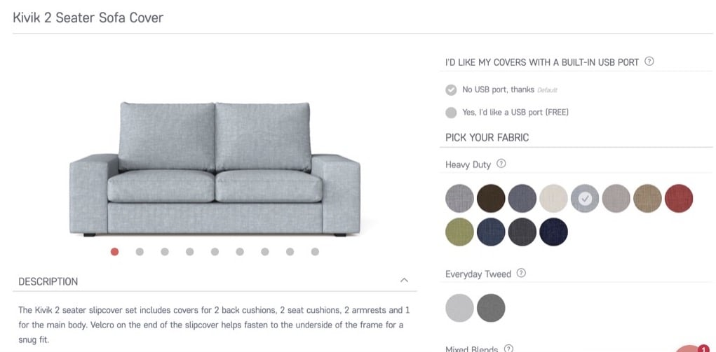 comfort works IKEA slipcovers