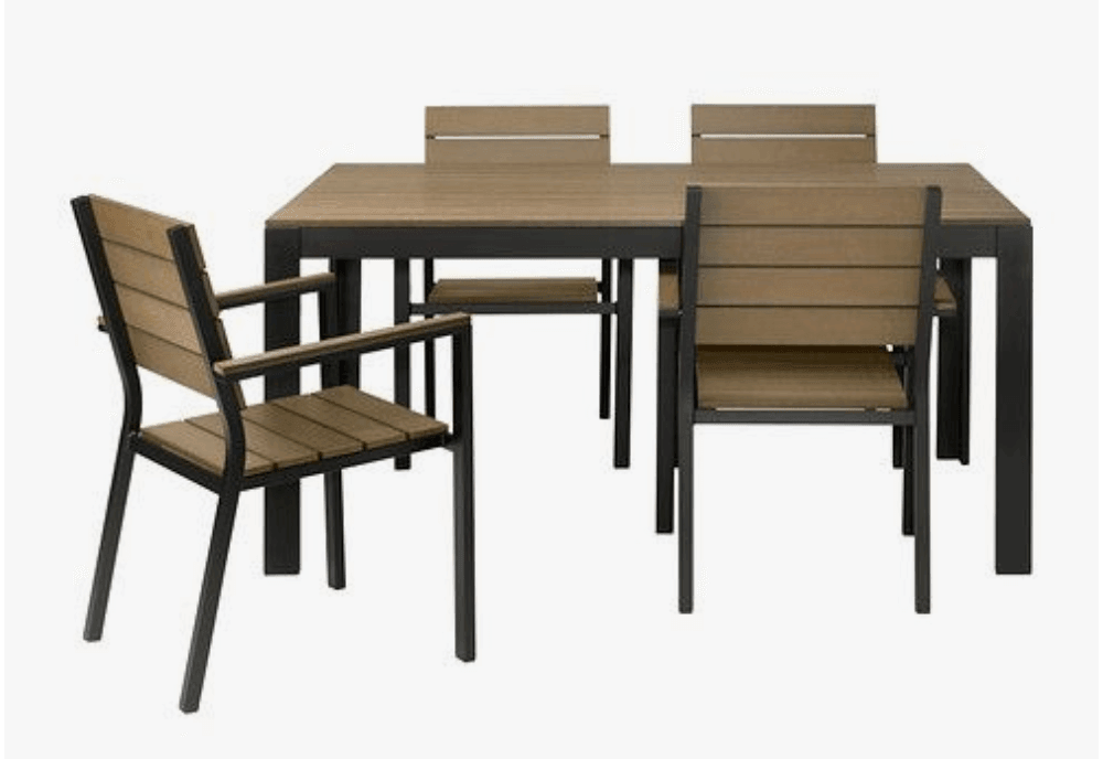 Ikea Outdoor Dining Table Set Gets Real Wood Ikea Hackers