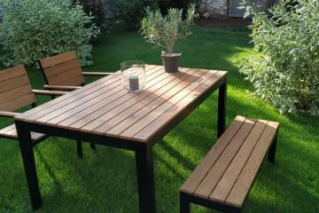 IKEA FALSTER outdoor dining table set