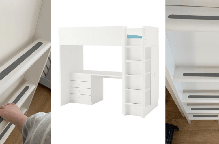 loft bed stairs diy
