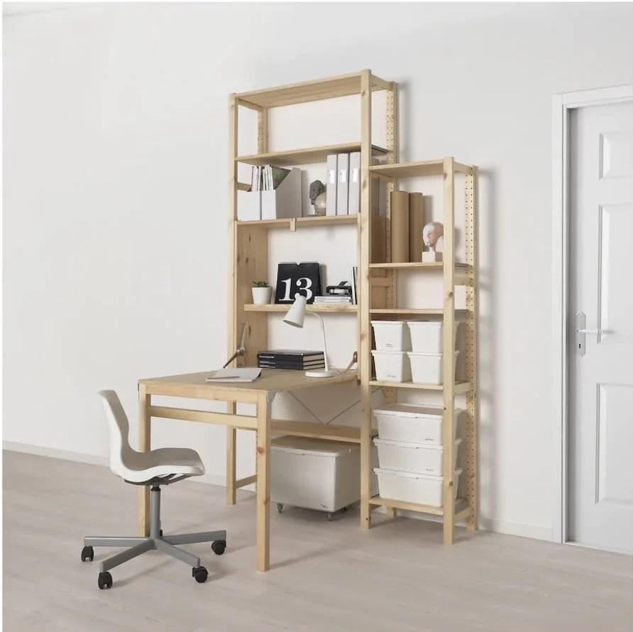 art desk with storage for tiny studio