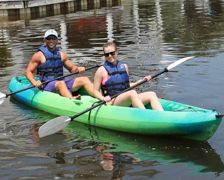 Beach Equipment Rentals - double-kayak-rental-Ikes-Beach-Service
