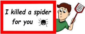 I killed a spider for you