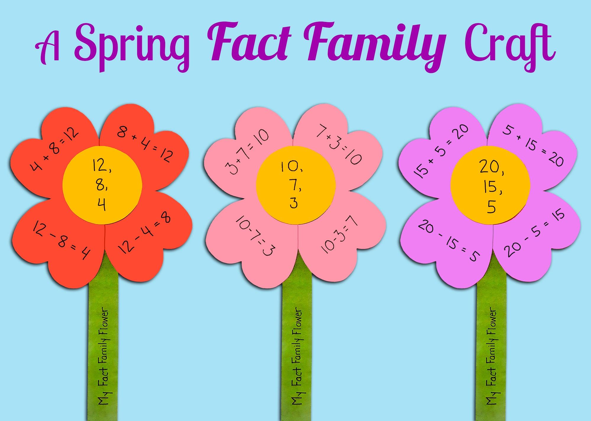 Make A Fact Family Flower