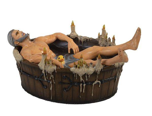 THE WITCHER 3 WILD HUNT GERALT IN THE BATH STATUETTE